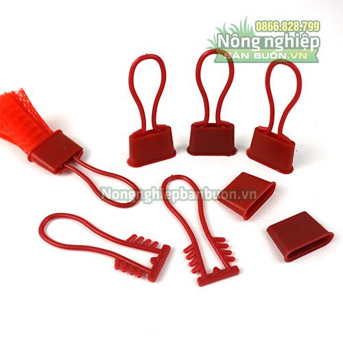 Móc khóa túi lưới nhựa màu đỏ (1kg)
