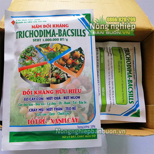 Nấm đối kháng Trichodima-bacsills 100g - T33