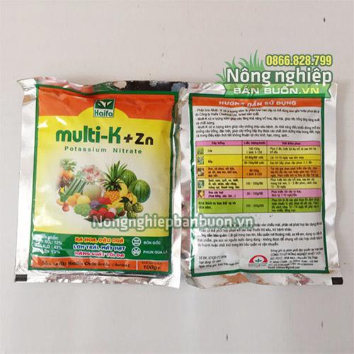 Phân bón Multi K+Zn ra hoa đậu quả - T38