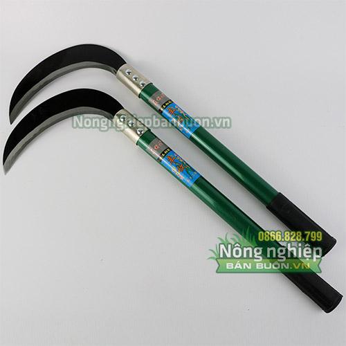 Liềm phát cỏ cán dài 40cm lưỡi Mangan - D30