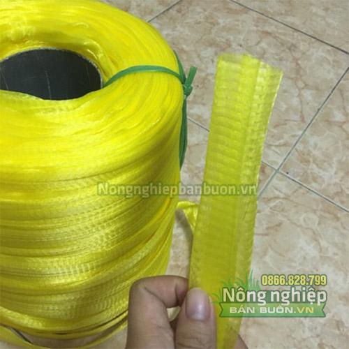 Túi lưới nhựa dài 40cm có móc khóa màu vàng (1kg)