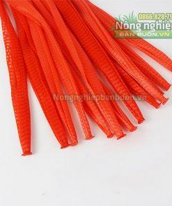 Túi lưới nhựa dài 40cm màu đỏ (1kg)