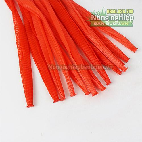 Túi lưới nhựa dài 35cm màu đỏ (1kg)