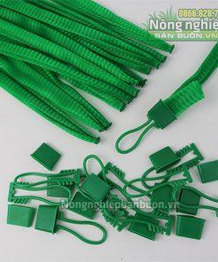 Túi lưới nhựa 25cm kèm móc khóa màu xanh (1kg)