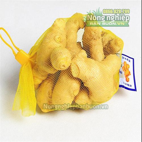 Móc khóa túi lưới nhựa màu vàng (1kg)