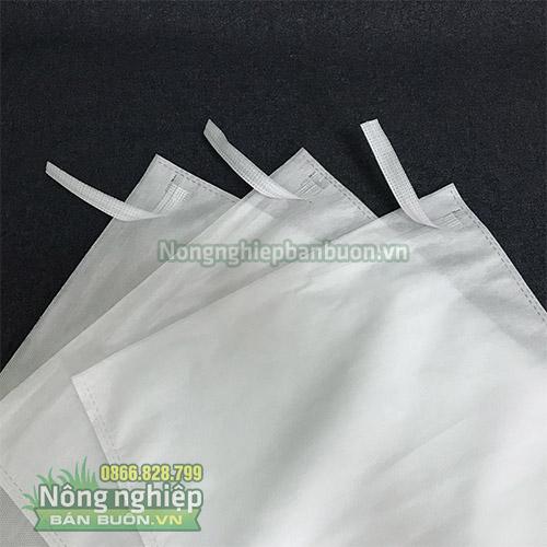 Túi vải Đài Loan bọc trái cây màu trắng loại dày(30x35)