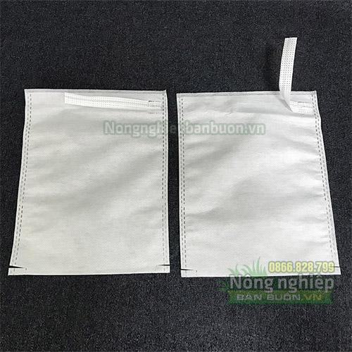 Túi vải bọc trái cây màu trắng (16x20)
