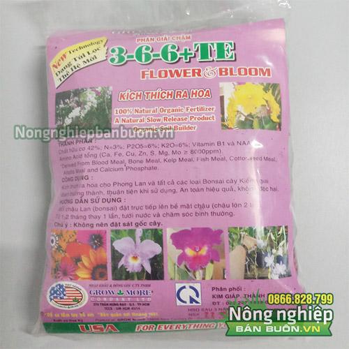 Phân giải chậm 3-6-6 TE kích thích ra hoa - T69