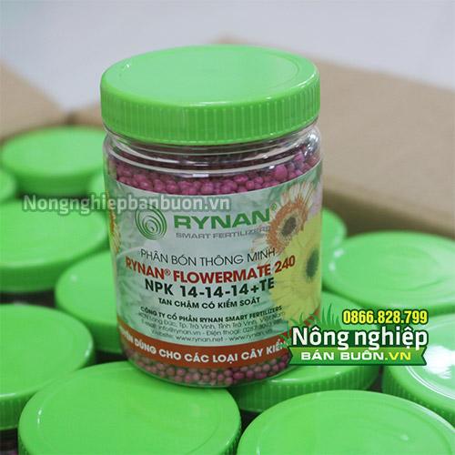Phân bón thông minh Rynan Flowermate 240 cho Hoa - T70
