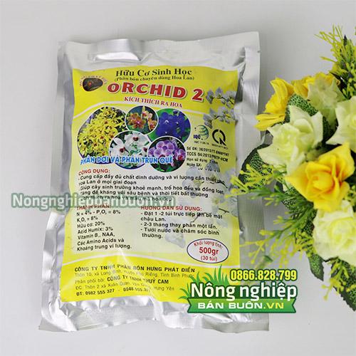 Phân bón cho lan dạng hữu cơ sinh học Orchid 2 - T110