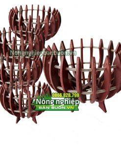 Chậu nhựa trồng lan giả gỗ phi 20cm CN01