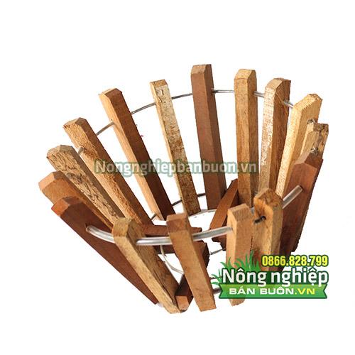 Các loại chậu trồng lan phi thanh gỗ bản vuông phi 20 - CG4