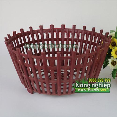 Chậu nhựa trồng cây kèm nan phụ phi 30cm CN08