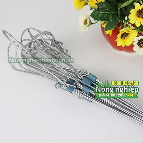 10 móc sắt treo lan có 3 dây treo 70cm - VTK10