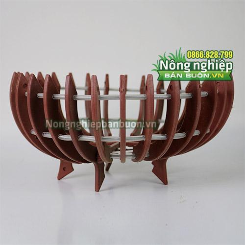Chậu nhựa trồng lan giả gỗ phi 30cm CN09