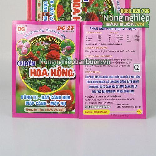 Phân bón cho hoa hồng dưỡng nụ mập hoa to - T152